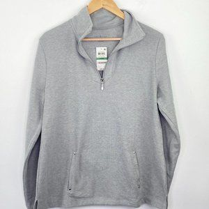 Karen Scott Sport Smoke Grey Heather Pullover L